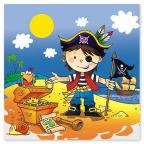 Скатерть п/э Маленький пират 130 х 180 см/уп