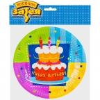 Тарелка Торт Birthday 17см 6 шт/уп