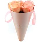 Бумажный конус для цветов Розовй