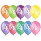 """M 12""""/30см Пастель+Декоратор (шелк) ассорти 2 ст.рис Цифра Четыре 10шт"""