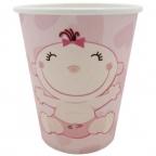 Стаканы бумажные С днем Рождения, Малыш розовые