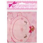 Скатерть полиэтиленовая С днем Рождения, Малыш розовая