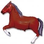 Лошадь темно-коричневая