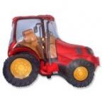 Трактор красный