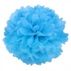 Помпон из бумаги синий