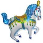 Нарядная лошадь синяя