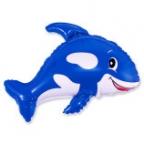 Дружелюбный кит синий