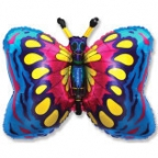 Бабочка синяя