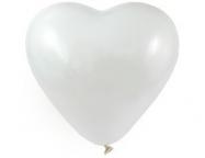 """Сердце 25"""" Пастель Белое /Ит"""