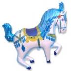 Лошадь цирковая синяя