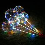 """Светящийся шар BoBo (15"""" в комплекте со светящей нитью и палкой-ручкой)"""