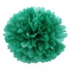 Помпон из бумаги зеленый