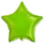 Шар Звезда Металлик Лайм / Lime Green