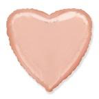 Сердце Розовое золото